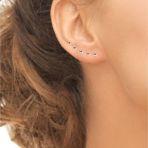 Sterling Silver 5-Pc. Set Small Ball Stud Earrings